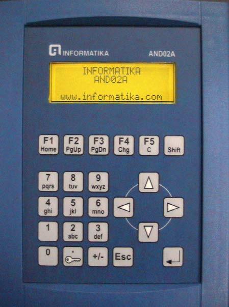 Izgled operatorskog pulta AND02A